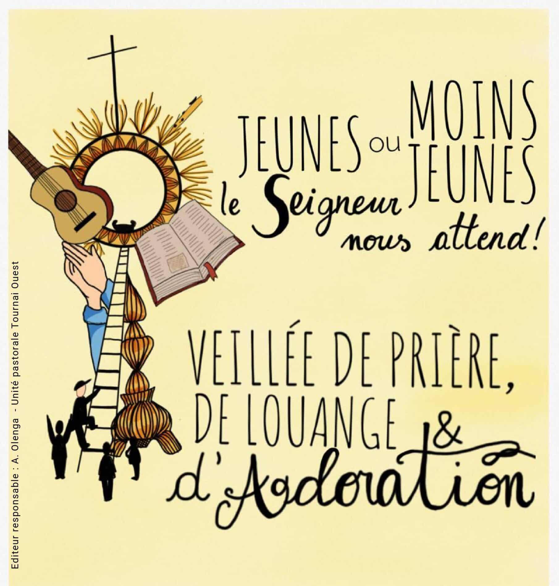 Mercredi 14 octobre première veillée de prière à Marquain