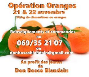 Opération Oranges 21 & 22 nov 2020