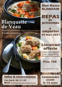 Don Bosco Blandain – Repas de printemps à emporter